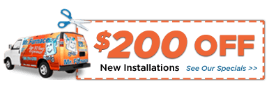 $200 Off Furnace & AC Installations